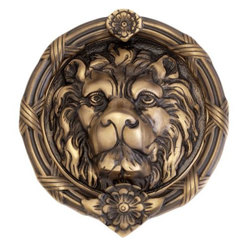 Brass Door Knocker-Lion