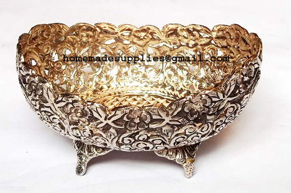Silver Antique Table Dryfruit Bowl