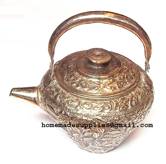 Silver Antique teapot Kettle