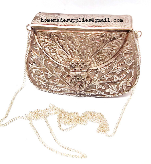 Silver Antique Metal Clutches