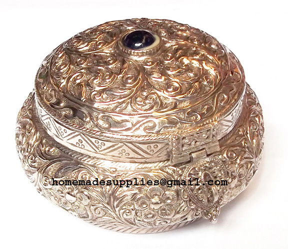 Silver Antique Jewellery Box