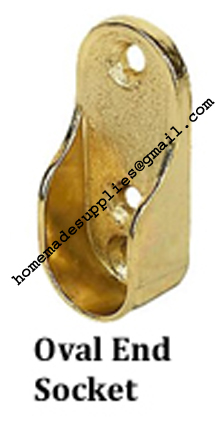 Brass Oval End Socket