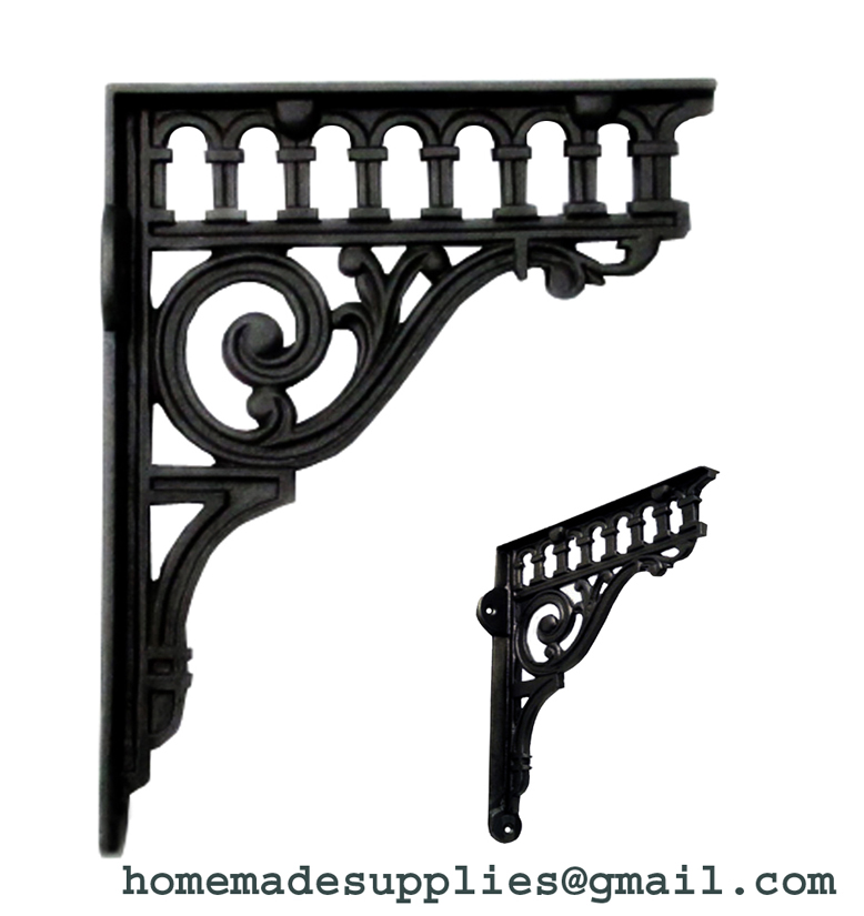 Black Iron Shelf Bracket - BID10602
